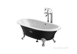 Ванна чугунная Roca Newcast черная, anti-slip 170x85 233650002
