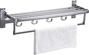 RUSH Edge Полка для полотенец (4-я) 61 см. , хром