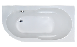 ROYAL BATH Azur 159х79 Акриловая ванна асимметричная, правая