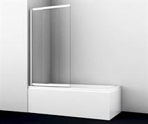 WASSERKRAFT Main 41S02-100 Стеклянная шторка на ванну, раздвижная/распашная, двухстворчатая, ширина 100 см, стекло прозрачное 6 мм