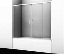 WASSERKRAFT Lippe 45S02-170 Стеклянная шторка на ванну, ширина 170 см, стекло прозрачное 6 мм
