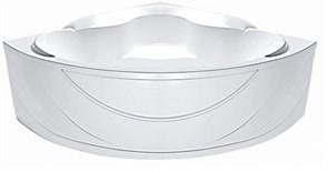 1MARKA Luxe Ванна угловая, с рамой и панелью, белая, 155x155
