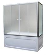 1MARKA Шторка на прямоугольную ванну, профиль-хром, 170x140