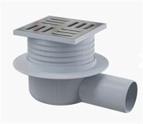 ALCA PLAST Сливной трап, 105х105/50 мм, заниженный, боковая подводка , решетка из нержавеющей стали, гидрозатвор мокрый