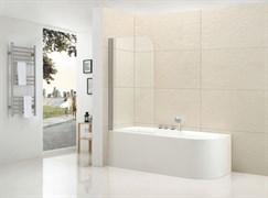 CEZARES ECO-V-1-R Душевые шторки для ванн распашные, стекло 6 мм, правый вариант