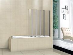 CEZARES PRATICO-V-5-L Душевые шторки для ванн складные, стекло 5 мм, левый вариант