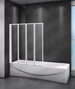 CEZARES RELAX-V-4-R Душевые шторки для ванн складные, стекло 4 мм, правый вариант