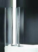 CEZARES TRIO V-3-L Душевые шторки для ванн складные, стекло 6 мм, левый вариант