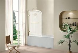 CEZARES RETRO-V-1-80-R Душевые шторки для ванн распашные, стекло 8 мм, правый вариант
