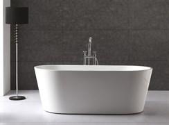 BELBAGNO BB202 Ванна акриловая отельностоящая овальная в комплекте со сливом-переливом цвета хром