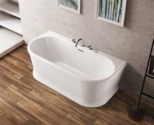 BELBAGNO BB408 Ванна акриловая отельностоящая овальная в комплекте со сливом-переливом цвета хром