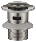 BELBAGNO Nova  Донный клапан с системой Клик-клак с переливом, нержавеющая сталь