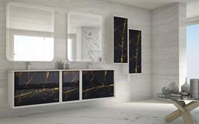CEZARES Bellagio Раковина из искусственного мрамора с двумя чашами, 176х46