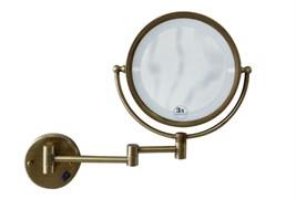 BOHEME Medici Зеркало настенное, с подсветкой, двустороннее, 3-кратное увеличение, бронза