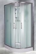 ESBANO C Душевая кабина, 85х115х210, поддон-15 см, стекла-рифленые, профиль-матовый хром, без крыши, левая