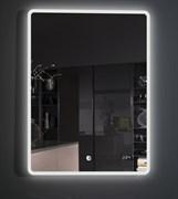 ESBANO Led Зеркало, с подсветкой, и часами, ШхВхГ: 50х70х5, система антизапотевания