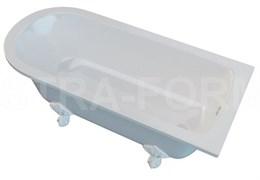 ASTRA-FORM Retro Ванна из литого мрамора Ретро, 170х75 см, белая, отдельностоящая
