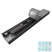 Конвектор с вентиляторами водяной внутрипольный KZTO Бриз В с решеткой L-2300 мм