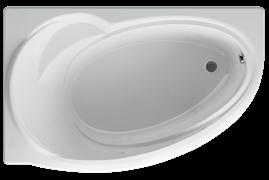 AQUATEK Бетта  Акриловая ванна на каркасе, слив-перелив в комплекте, с панелью. Левая ориентация