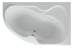 AQUATEK Вега Акриловая ванна на каркасе, слив-перелив в комплекте, с панелью. Правая ориентация