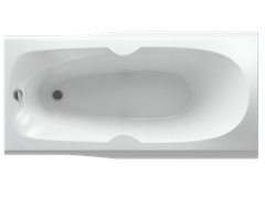 AQUATEK Европа Акриловая ванна на каркасе, слив-перелив в комплекте, без панели.