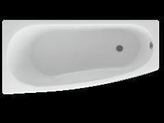 AQUATEK Пандора  Акриловая ванна на каркасе, слив-перелив в комплекте, с панелью. Левая ориентация