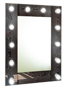CONTINENT Зеркало гримерное лофт (12 ламп) 60х80