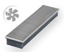 WARMES HAUS Конвектор с вентилятором водяной внутрипольный KWHV с решеткой L-3500 мм