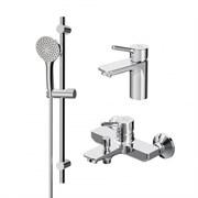 AM.PM X-Joy S, набор 3в1: см-ль д/умывальника, см-ль д/ванны/душа, душевой комплект, шт.