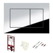 Комплект для установки подвесного унитаза: застенный модуль, пластиковая панель смыва TECEnow, хром глянцевый
