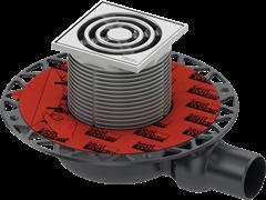 Трап TECEdrainpoint низкий S 110, с универсальным фланцем Seal System