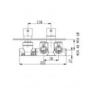 RU102X00Q AquaElite встраиваемая часть термостатического смесителя